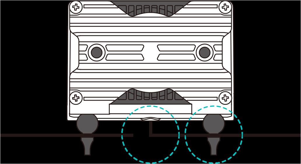 HIBLOWエアーポンプ 固定 カスタマイズ事例