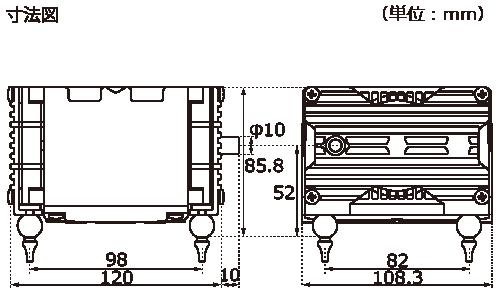 テクノ高槻 エアーポンプ VP-4020 VP-5030 VP-6035 外形図